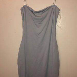 Light blue body con mini dress!